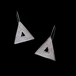 Silver Geometric Dream Earrings