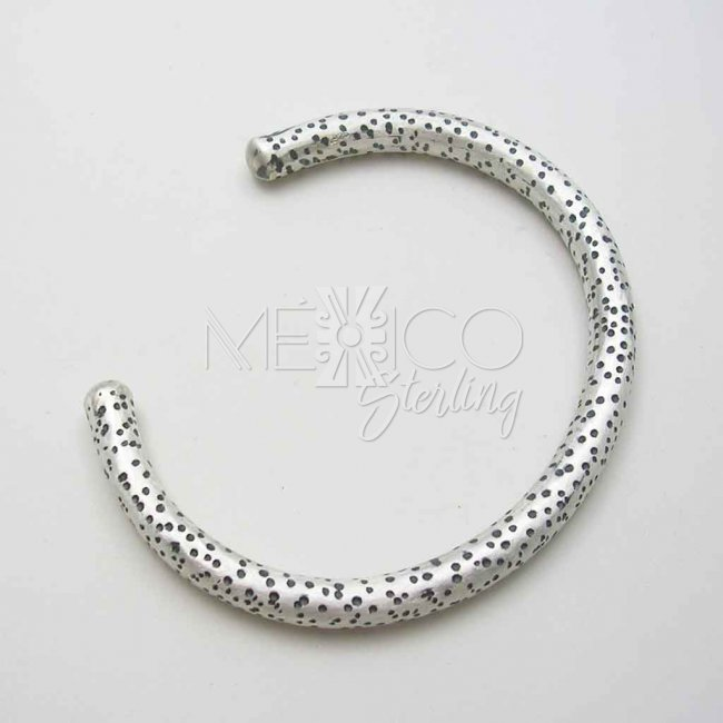 Taxco Sterling Silver Cuff with Texture