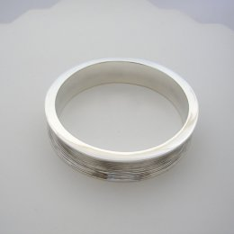Sterling Silver Bangle Bracelet, Textured
