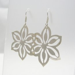 Feminine Sterling Silver Flower Earrings