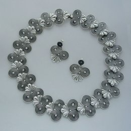 Hector Aguilar Molds Taxco Silver Necklace