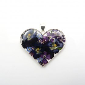Still Nature and Silver Heart Pendant