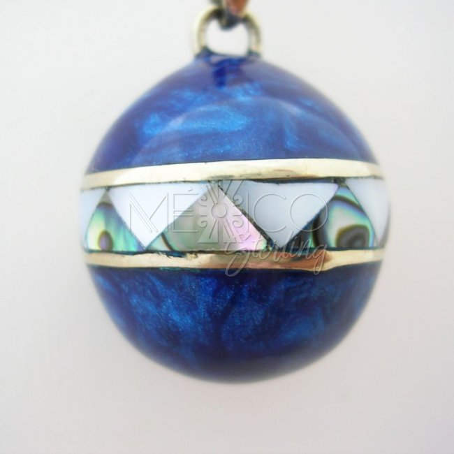 Taxco Silver Plated Decorated Pendant