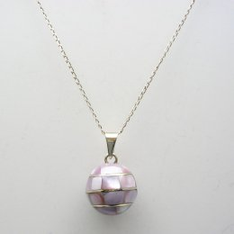 Silver Plated Pendant with Mother of Pearl