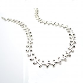 Taxco Silver Jacks Game Necklace