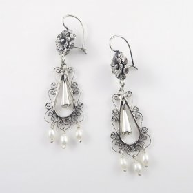 Silver Sweet Mañanitas Long Earrings