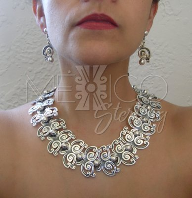 Ethnic Solid Sterling Silver Necklace