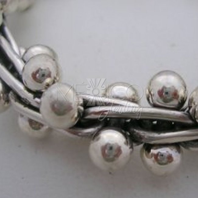 Solid and Sturdy Taxco Sterling Silver Bracelet