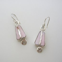 Taxco Sterling Silver Earrings with Shell