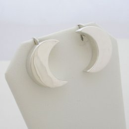 Charming Silver Earrings Moon Shape