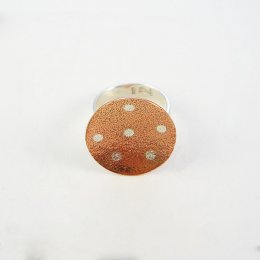Silver and Copper Dancing Stars Ring