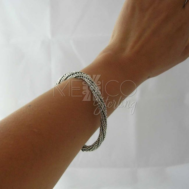 Happy Twirls Taxco Silver Bracelet