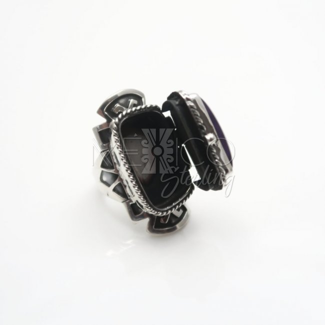 Taxco Silver Aztec Dream Poison Ring