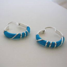 Silver Plated earrings Colorful Decoration