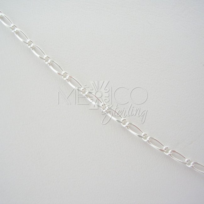 Mexican Silver Chain and Delicate Pattern