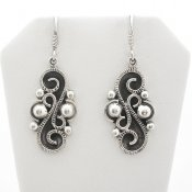 Taxco Oxidized Silver Dangle Earrings