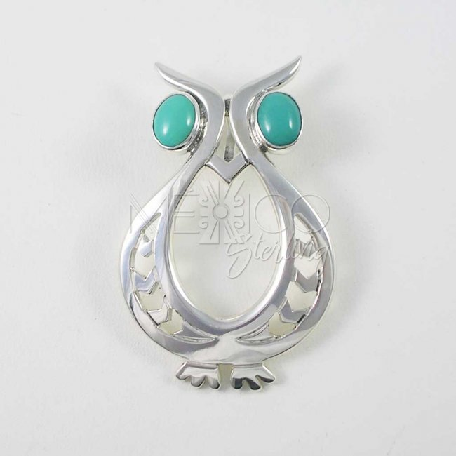 Wise Owl Taxco Silver Pendant