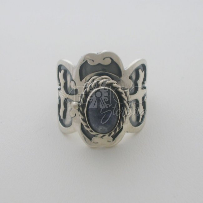 Solid Sterling Silver Poison Ring with Stone