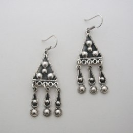 Sterling Silver Eye in the Sky Earrings