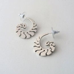Mayan Sea Sterling Silver Earrings