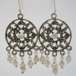 Taxco Sterling Silver Earrings with Pearls