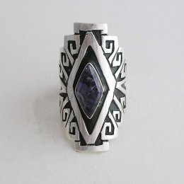 Mayan Wind Taxco Silver Ring