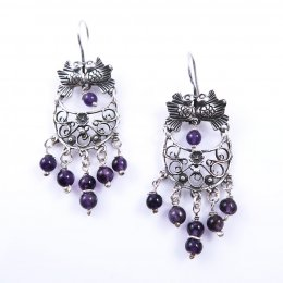 Handmade Silver Dangling Earrings