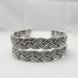 Taxco Romantic Braid Silver Cuff