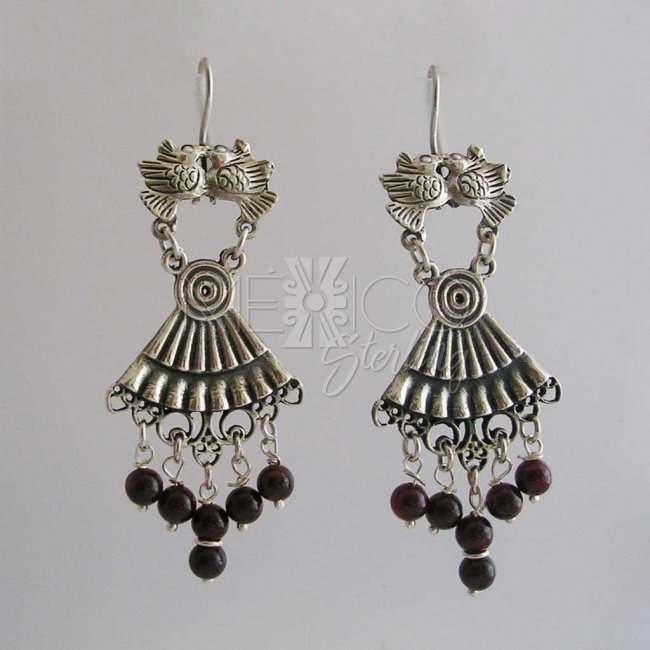 Flying Bliss Taxco Silver Earrings - Click Image to Close