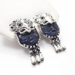 Taxco Story Telling Mayan Faces Earrings