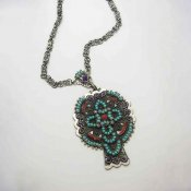 Vintage Taxco Silver and Stone Necklace
