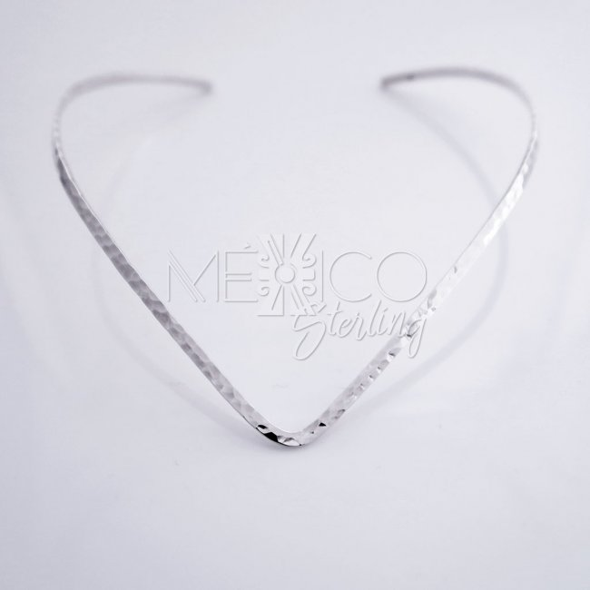 Solid Silver Taxco Hammered Choker