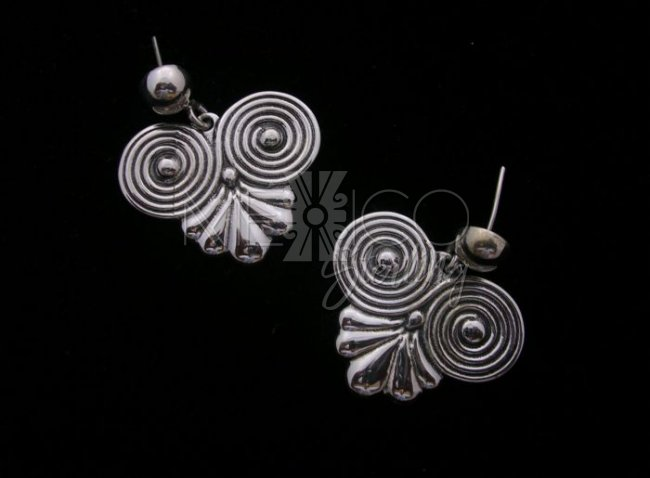 Hector Aguilar Molds Taxco Sterling Silver Post Earrings