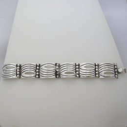 Sea of Life Design Old Taxco Silver Bracelet