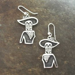 Flirty Catrina Taxco Silver Earrings