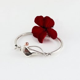 Mexican Calla Lilly Silver Bracelet