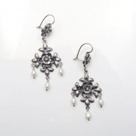 Silver Mazahua Dawn Dangle Earrings