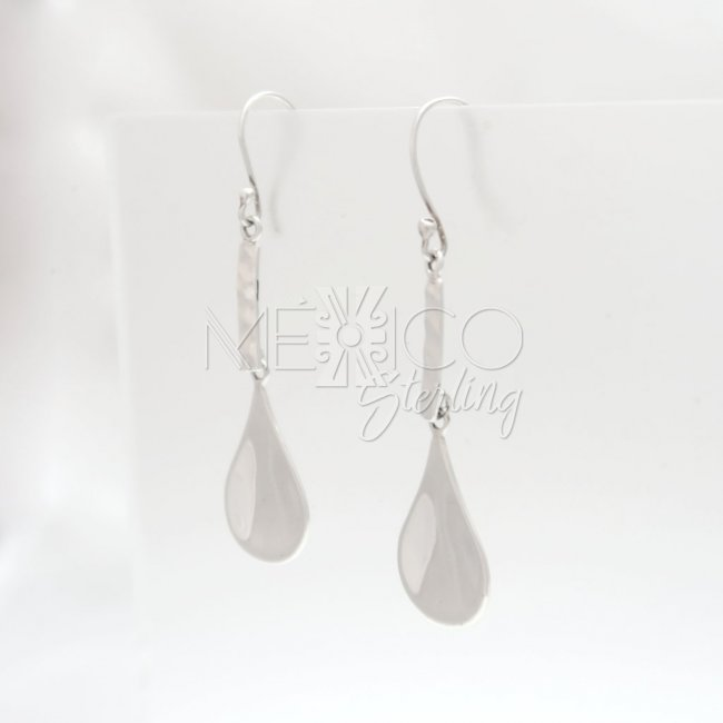 Taxco Silver Peaceful Rain Earrings