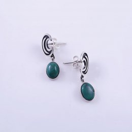 Delicate Taxco Silver Magical Moon Post Earrings
