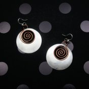 Silver Copper Happy Spirals Earrings