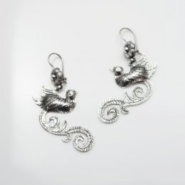 Mazahua Fancy Paradise Bird Earrings