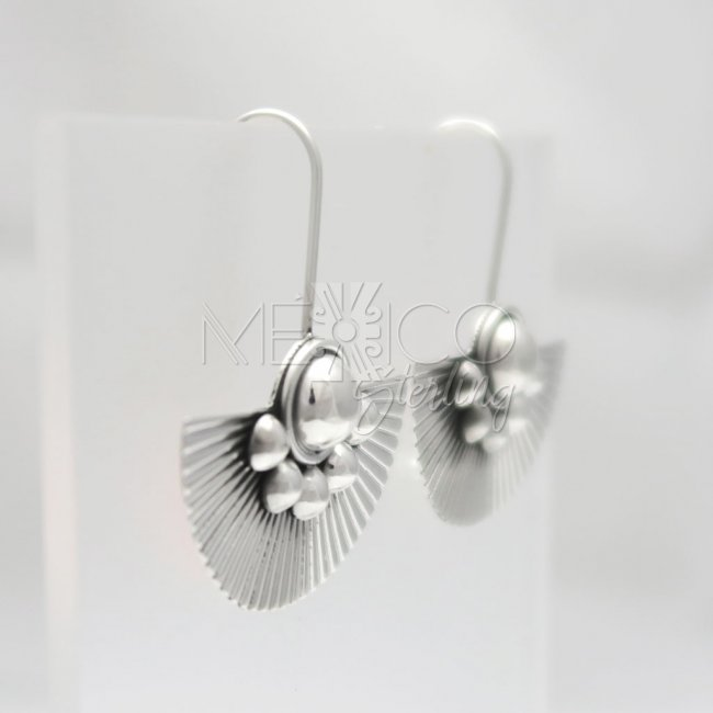 Silver Mystique Egyptian Fan Earrings