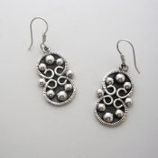 Taxco Silver Moon Sisters Earrings