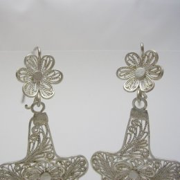 Taxco Silver Filigree Earrings
