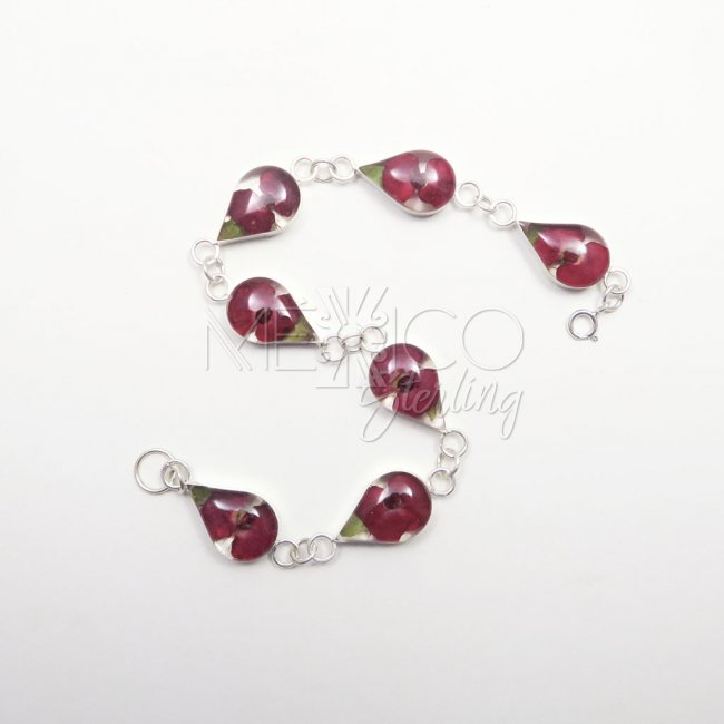Taxco Silver and Resin Bracelet