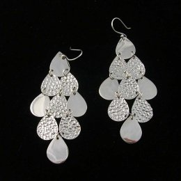 Taxco Silver Rain Long earrings