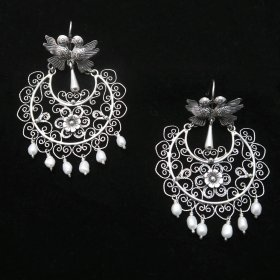Silver Filigree Mazahua Sunny Day Earrings