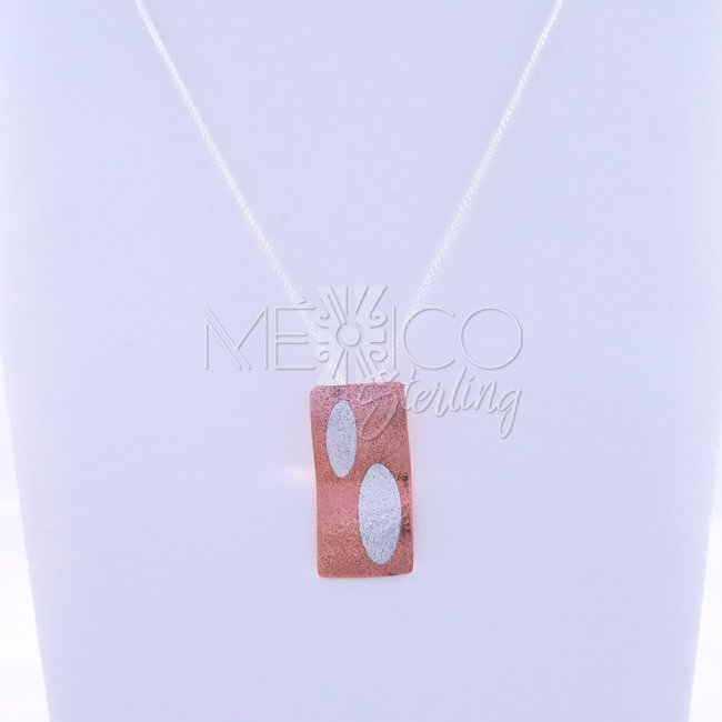 Copper and Silver Funny Slide Pendant