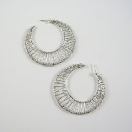 Mexican Sterling Silver Earrings Hoops