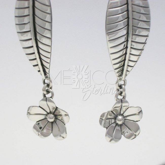 Designer Taxco Silver Long Earrings
